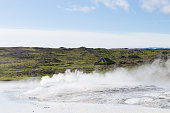 Hveravellir hot springs area, Iceland. Highlands of Iceland