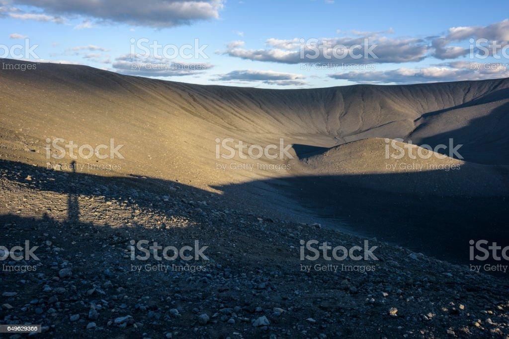 Hverfjall, Iceland stock photo