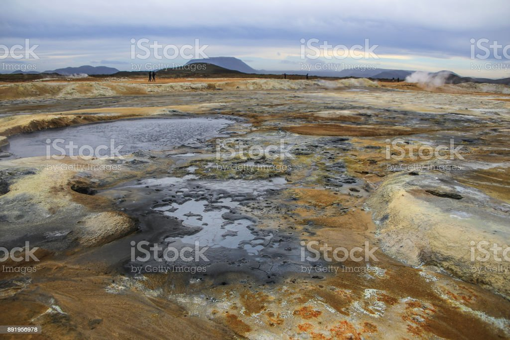 Hverir Geothermal Area, Iceland - Myvatn area stock photo