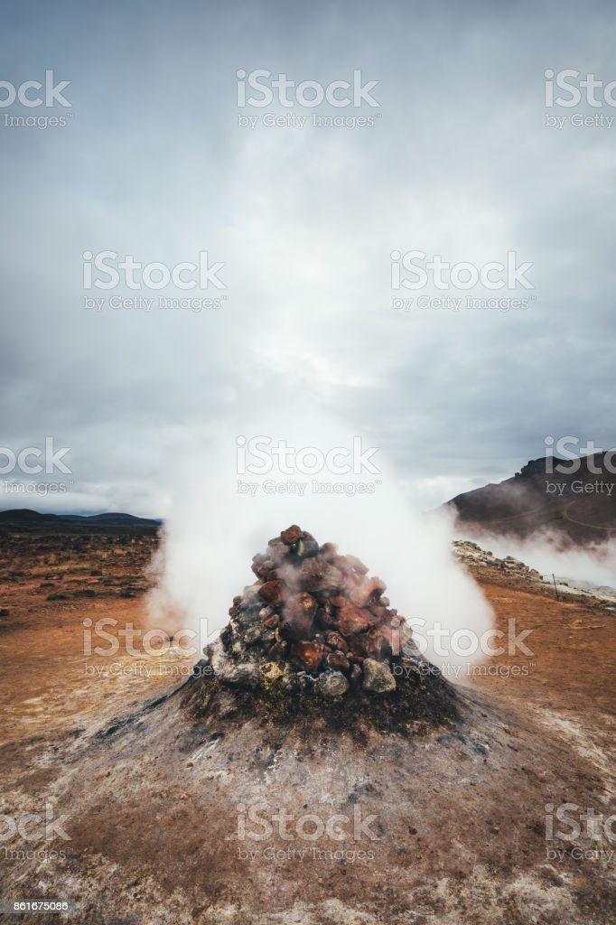 Hverir Geothermal Area In Iceland stock photo