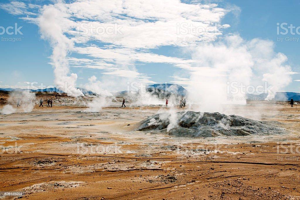 Hverir Hverarönd, fumaroles Iceland – Foto
