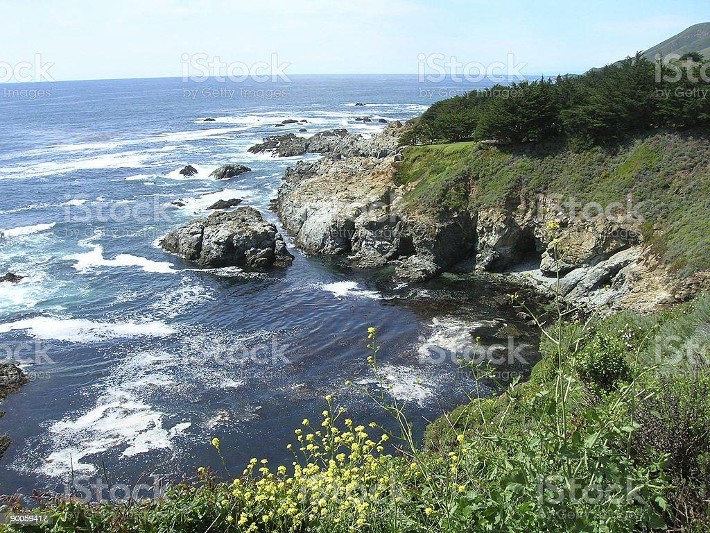 Hwy 1 Scenic Vista royalty-free stock photo