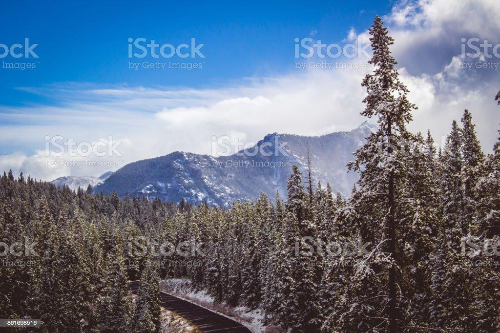 Hyalite Canyon Snow stock photo