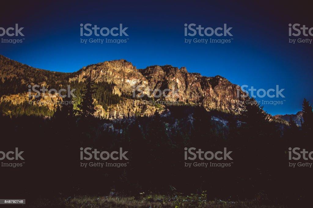 Hyalite Canyon Walls stock photo