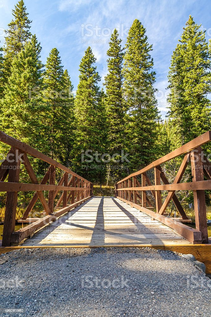 Hyalite Creek Bridge stock photo