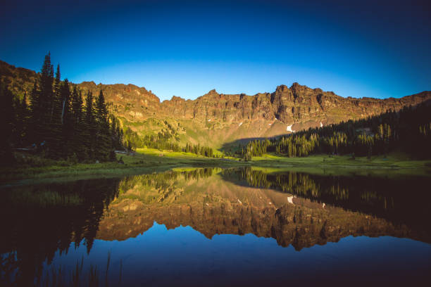hyalite lake - montana western usa stock pictures, royalty-free photos & images