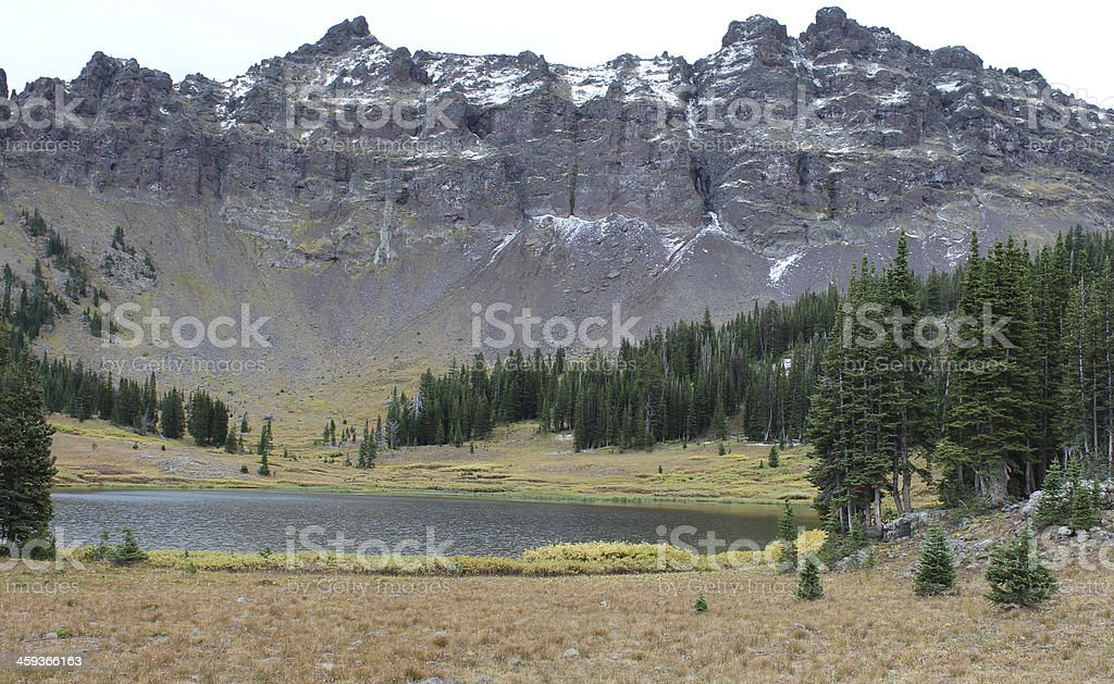Hyalite Lake stock photo