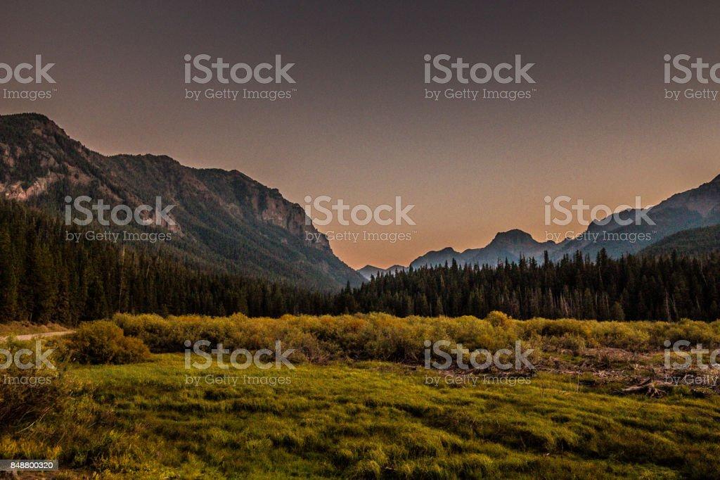 Hyalite Reservoir stock photo