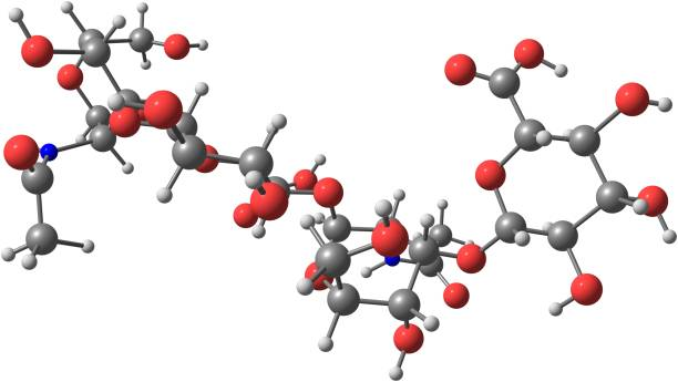 Hyaluronic acid molecular structure isolated on white – zdjęcie