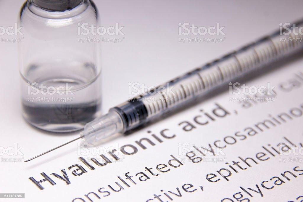 Hyaluronic acid stock photo