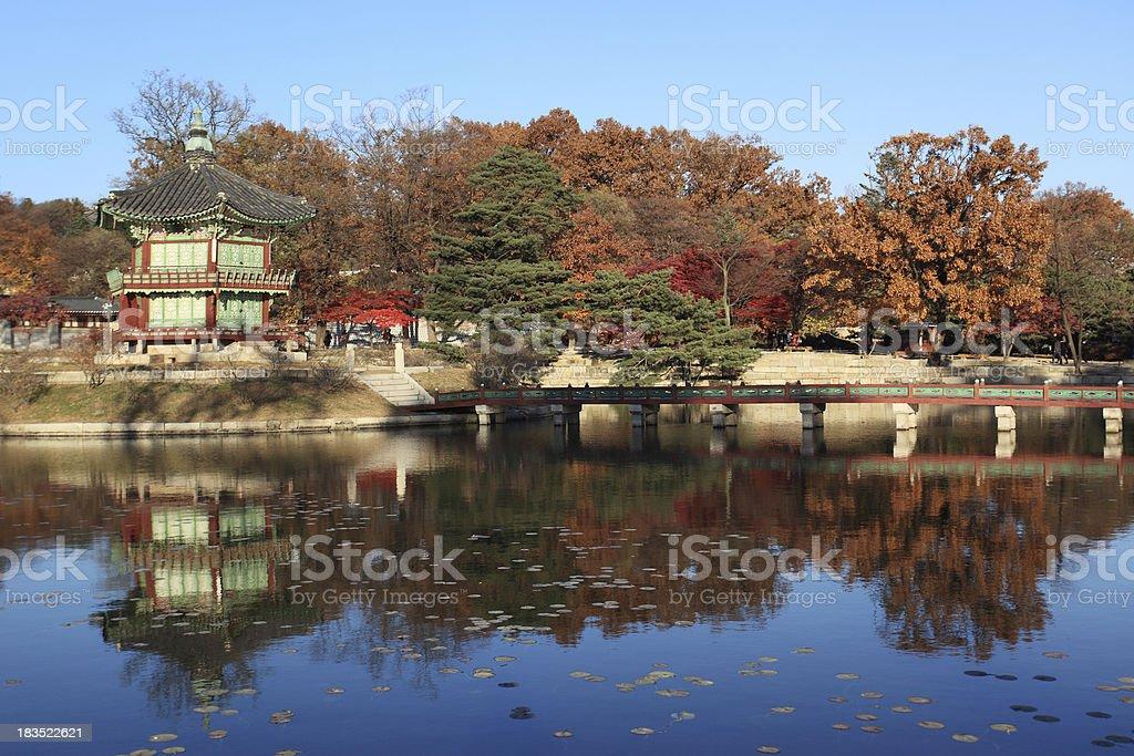 Hyangwonjeong pavilion royalty-free stock photo
