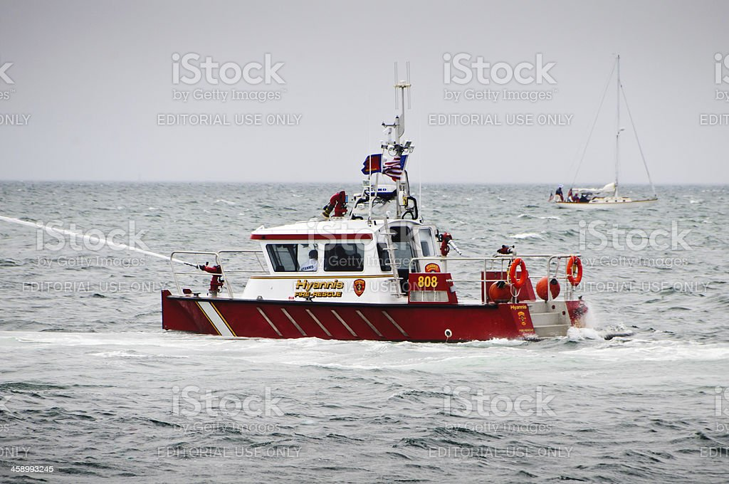 Hyannis Fire Boat stock photo