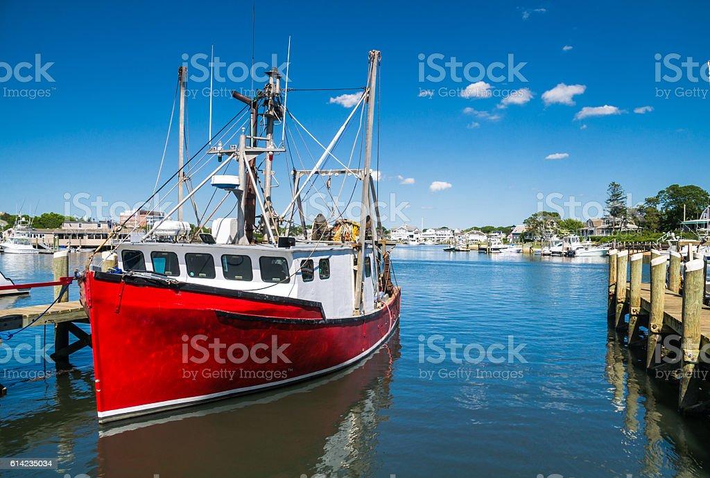Hyannis Fishing Trawler stock photo