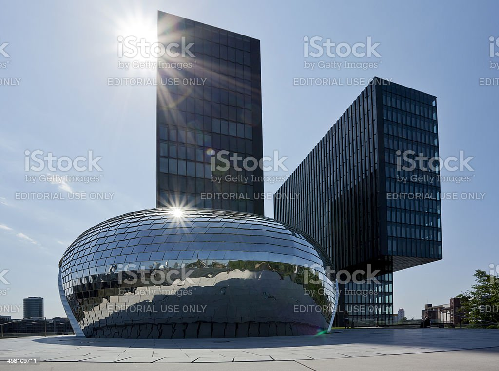 Hyatt Regency Hotel Dusseldorf Medienhafen stock photo