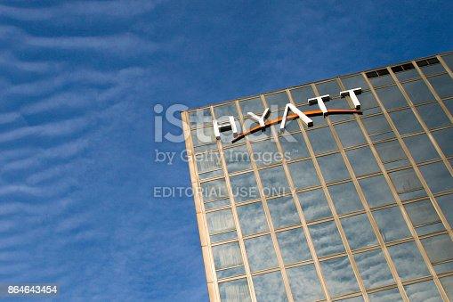 Hyatt Regency Hotel in Belgrade, Serbia. Hyatt Hotels Corporation is an American multinational owner, operator, and franchiser of hotels, resorts, and vacation properties.