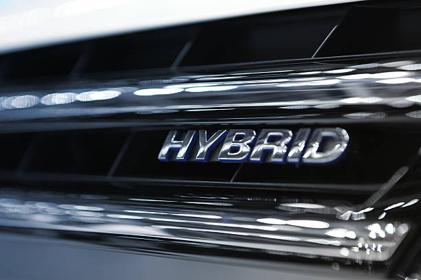 auto motore ibrido - macchina ibrida foto e immagini stock