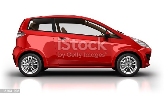 istock Hybrid car in studio - isolated with clipping path 184931998