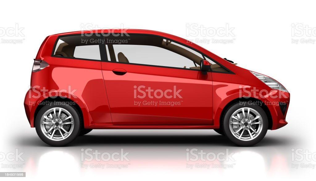 Auto ibrida in studio isolato con clipping path - foto stock