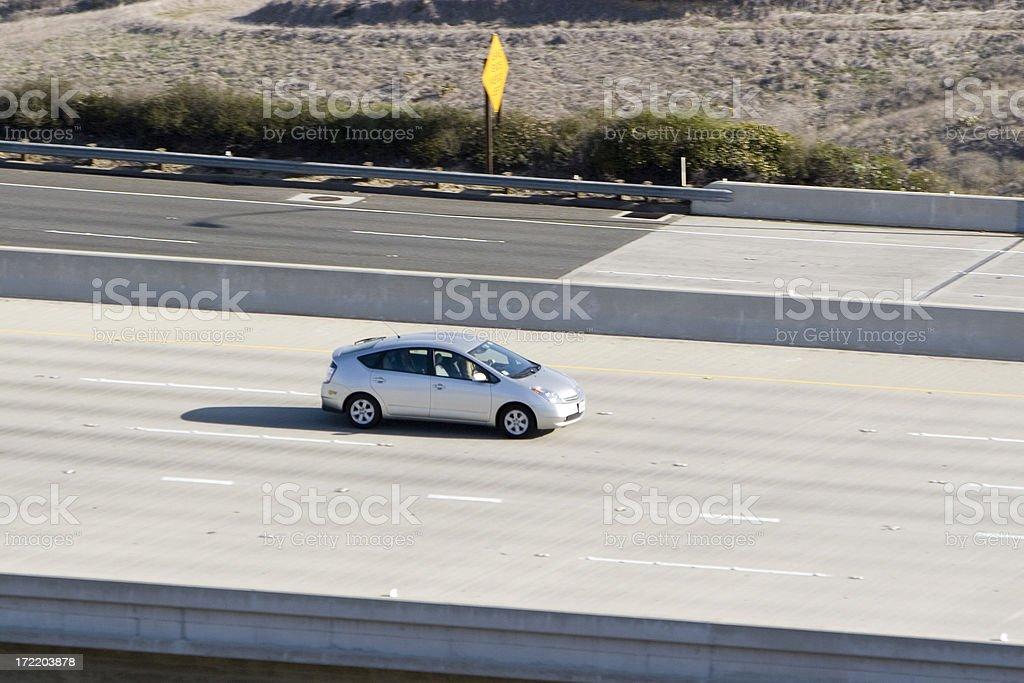 Hybrid Car (silver) stock photo