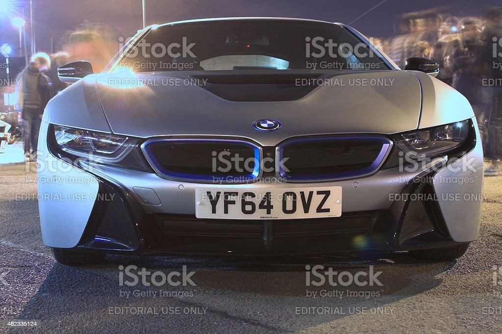 BMW I8 coche híbrido - foto de stock