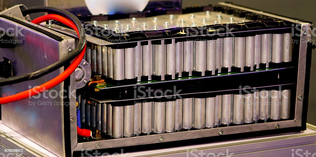hybrid Electric battery stock photo