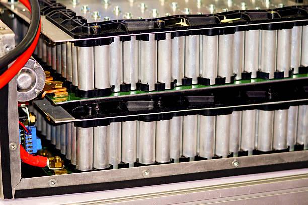 hybrid Electric battery stock photo