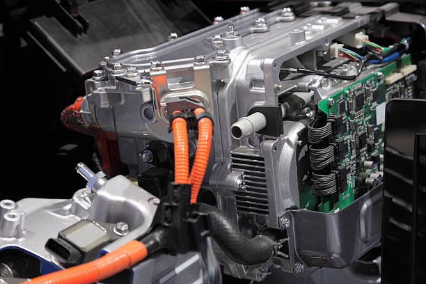 Hybrid engine Hybrid engine of a modern car hybrid vehicle stock pictures, royalty-free photos & images