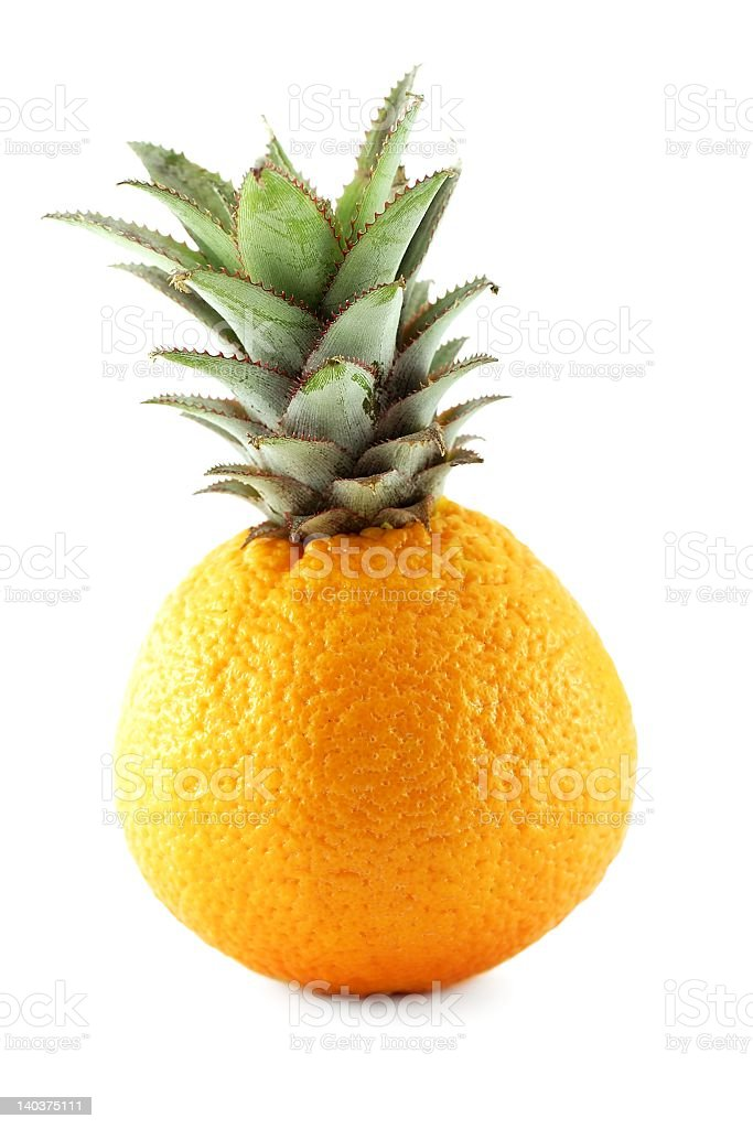 Hybrid of orange and pineapple royalty-free stock photo
