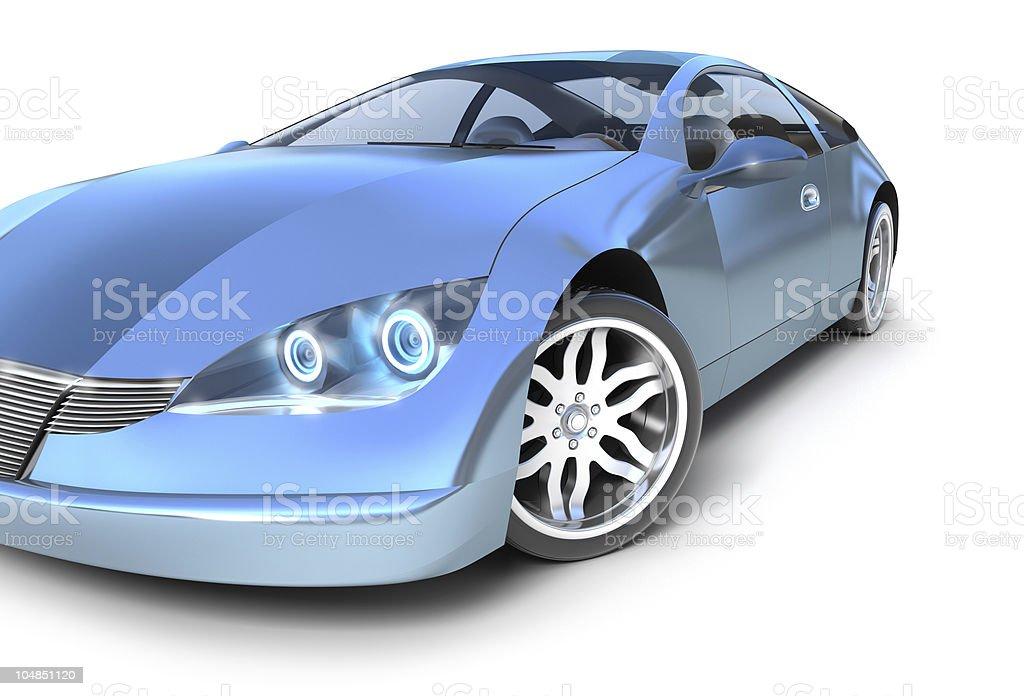 Hybrid sport car stock photo