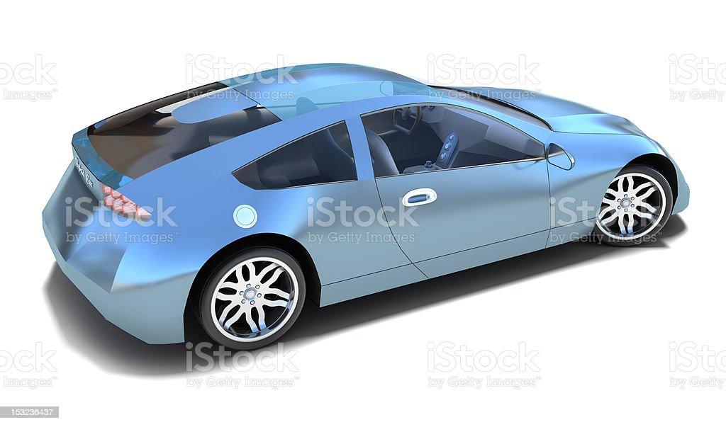 Hybrid sports car royalty-free stock photo