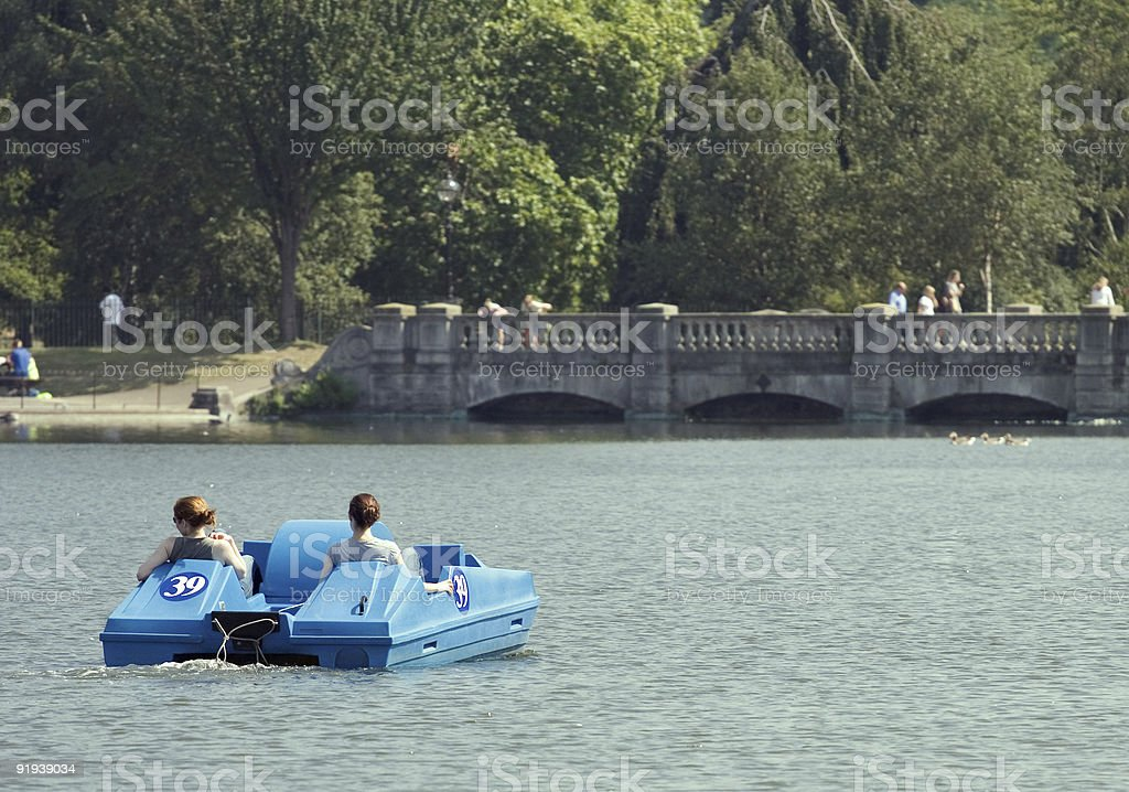 Hyde Park Boating stock photo