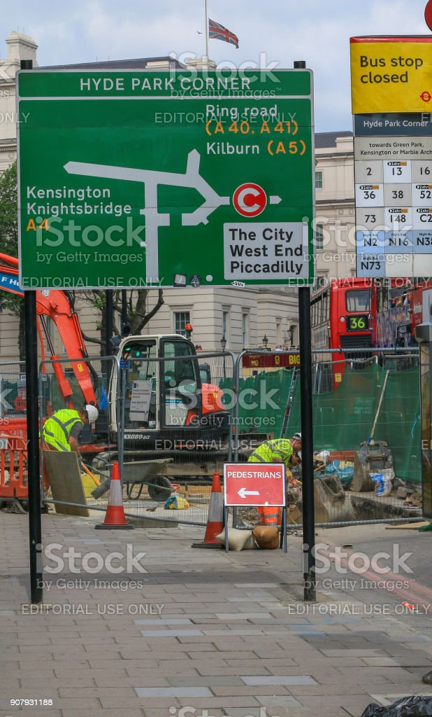 Hyde Park Corner in Westminster, London stock photo