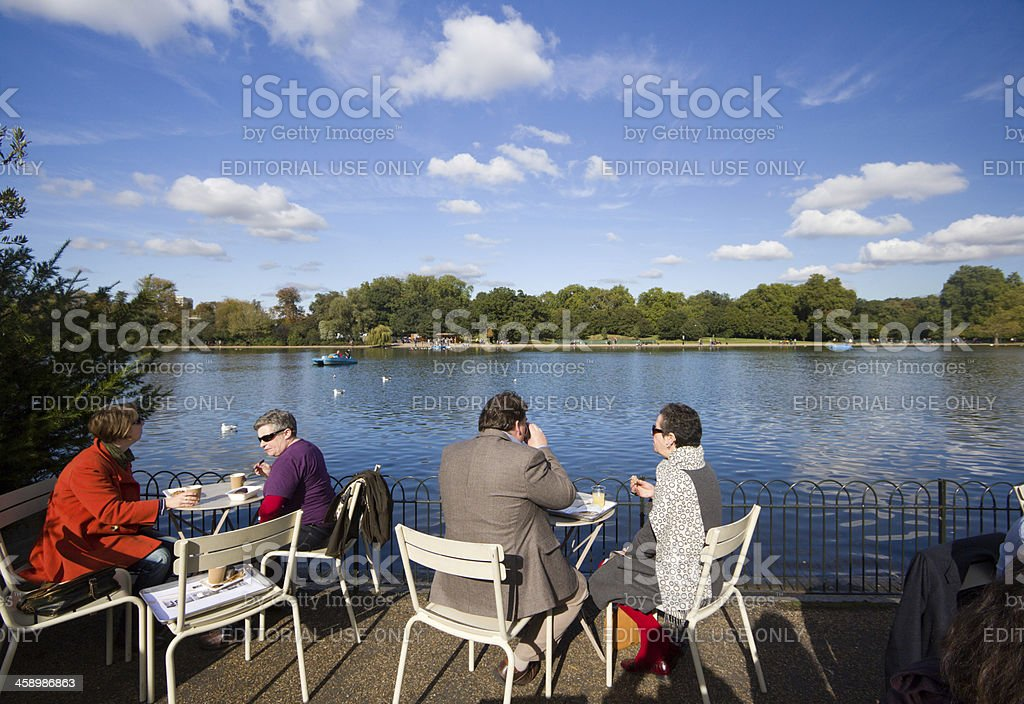 Hyde Park in London, England stock photo