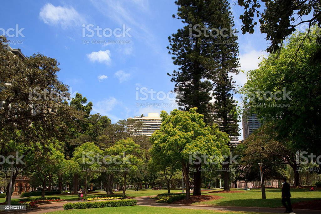 Hyde Park in Sydney, Australia stock photo