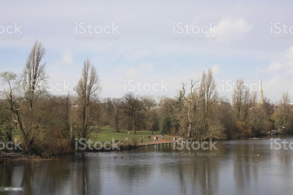 Hyde Park, London stock photo