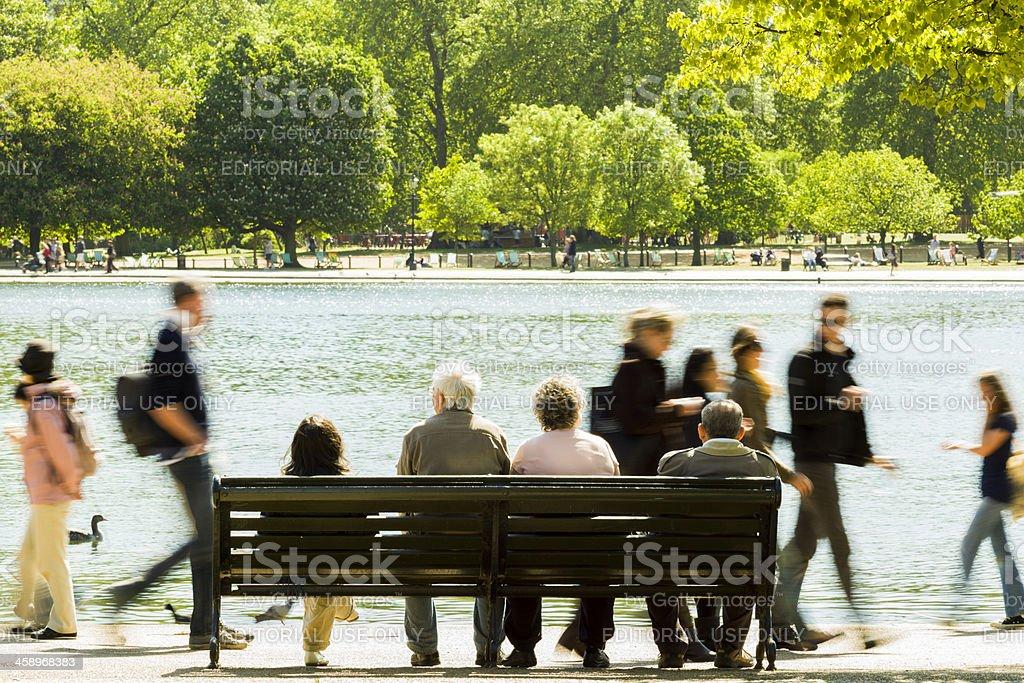 Hyde Park royalty-free stock photo