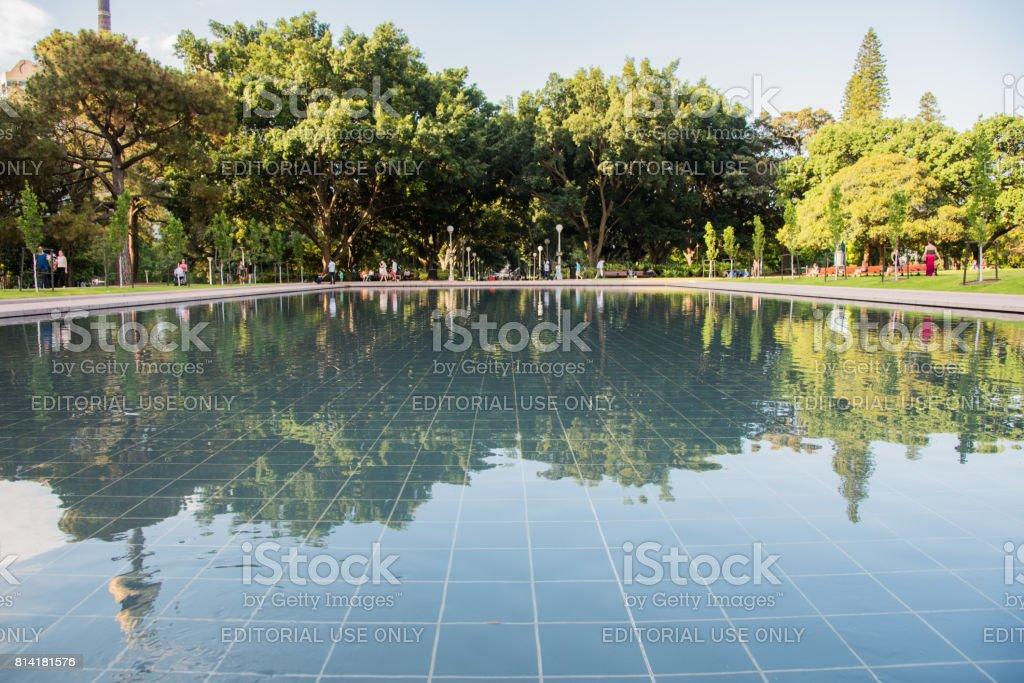 Hyde Park Reflection Pond stock photo