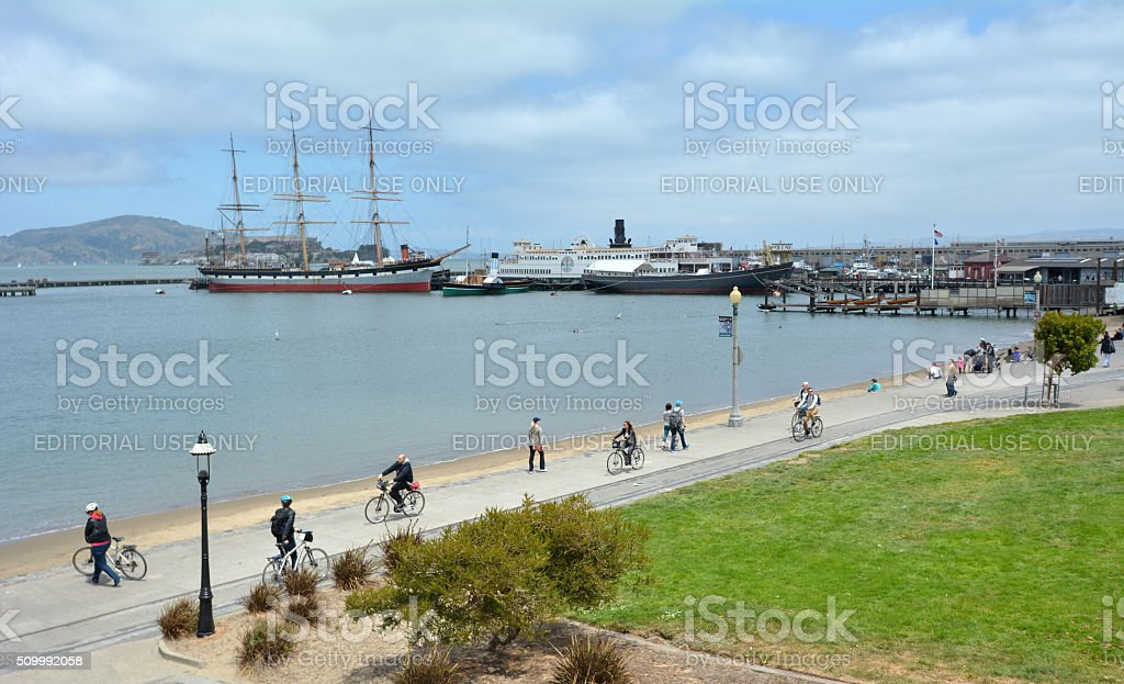 Hyde Street Pier Fisherman's Wharf San Francisco stock photo