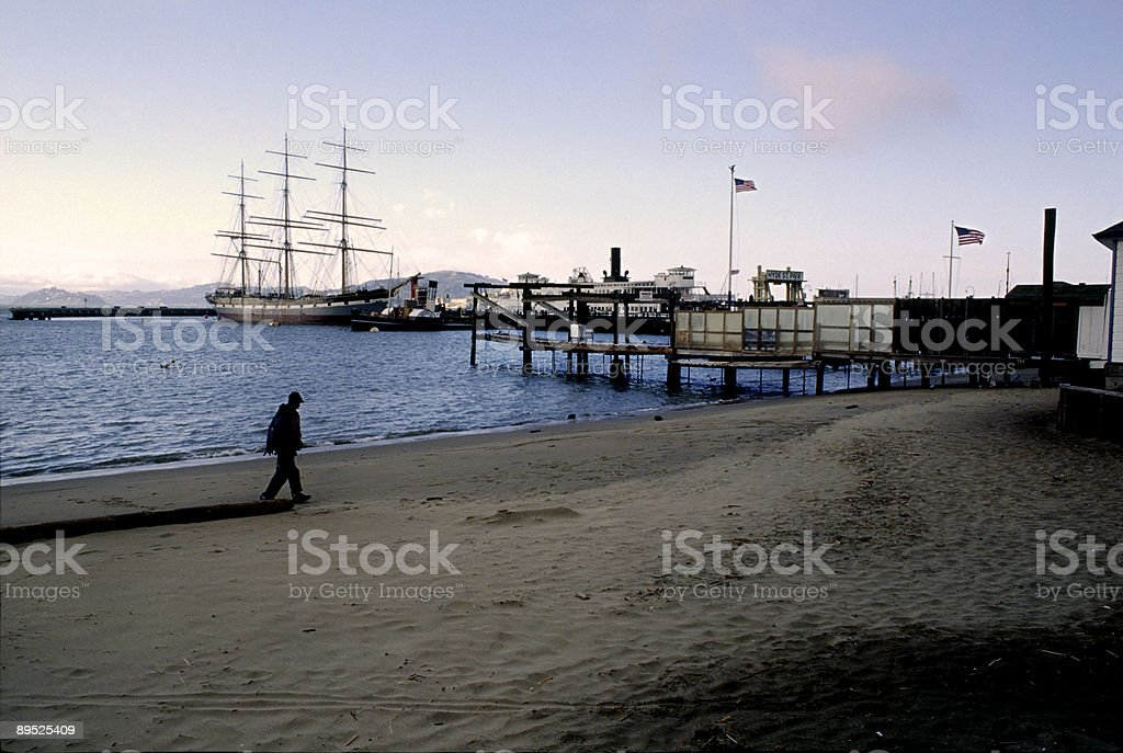 Hyde Street Pier, San Francisco, California stock photo