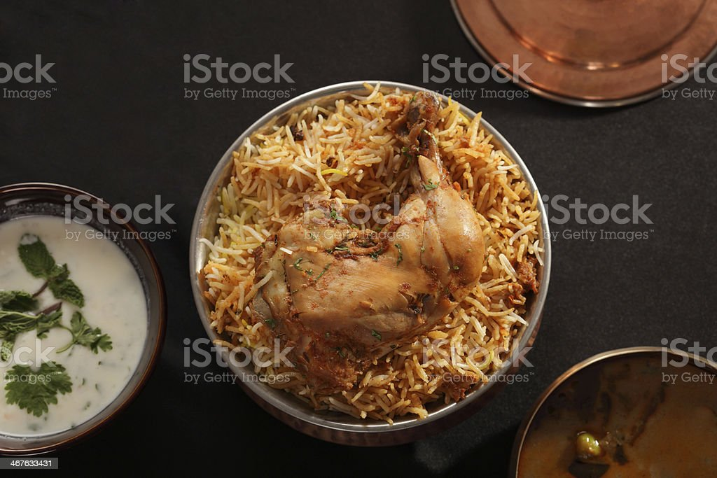 Hyderabadi Biryani - A Popular Chicken or Mutton dish stock photo