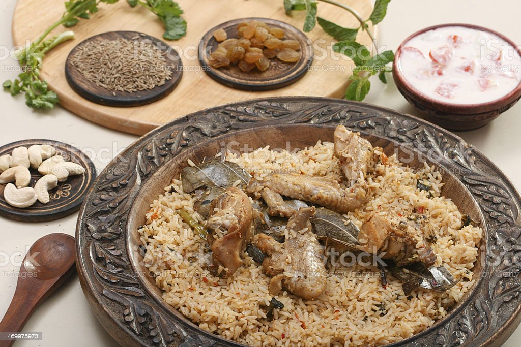Hyderabadi Biryani stock photo