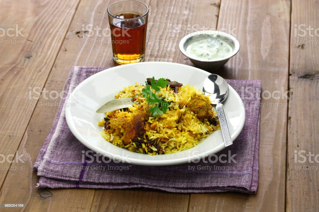 hyderabadi chicken biryani, indian cuisine zbiór zdjęć royalty-free