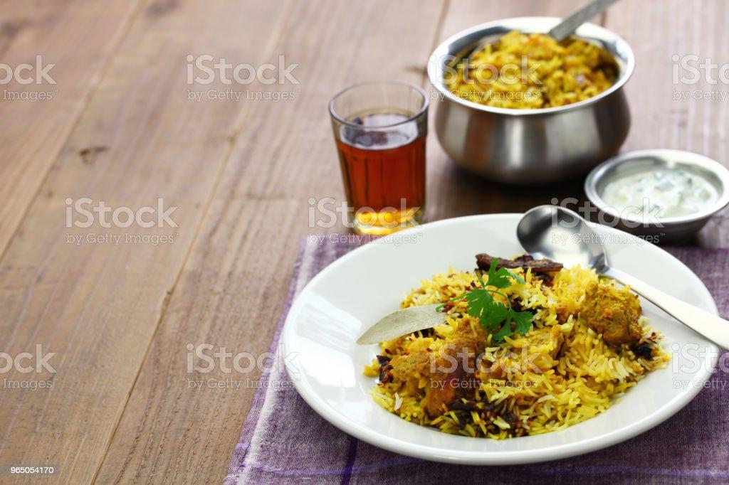 hyderabadi chicken biryani, indian cuisine zbiór zdjęć royalty-free