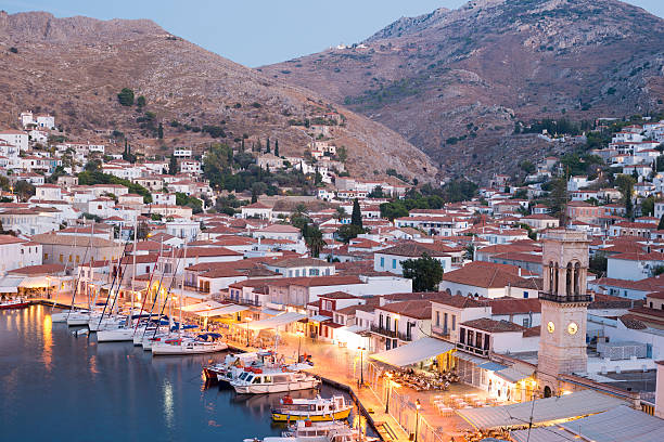 Hydra Island, Greece Hydra Island is an hour and a half from Athens by ferry.  Hydra has no cars or motorised vehicles. rymdraket stock pictures, royalty-free photos & images