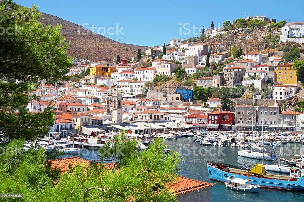 Hydra Island in Greece stock photo