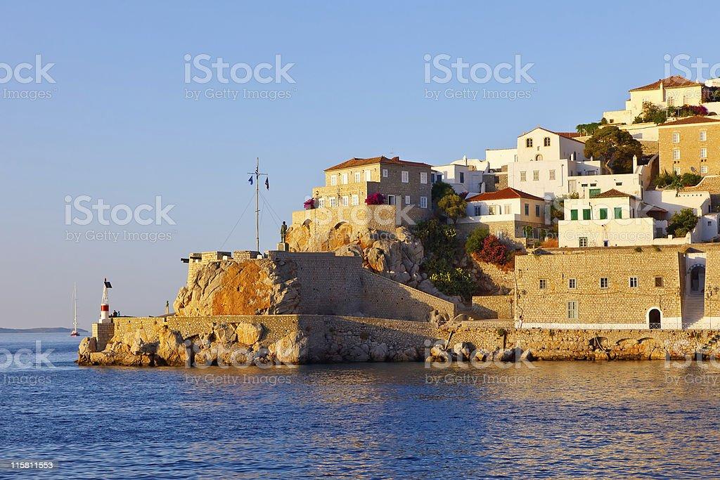 Hydra island stock photo
