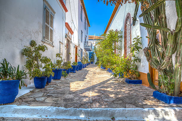 Hydra (isle of greece) HDR version of Hydra! rymdraket stock pictures, royalty-free photos & images