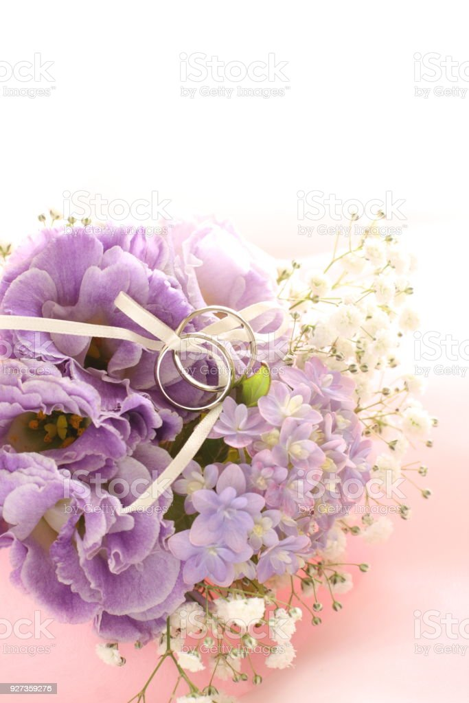 Hydrangea and baby breath flower - Royalty-free Bouquet Stock Photo