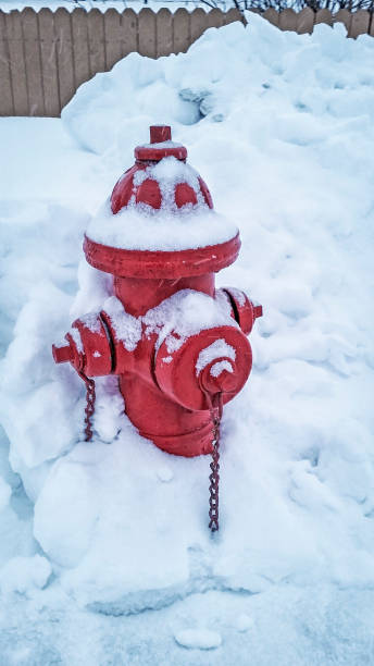 Hydrant in the Snow Picture of a red fire hydrant covered in snow.  Picture was taken on a cold, snowy, day in Valdez, Alaska. fire hydrant stock pictures, royalty-free photos & images