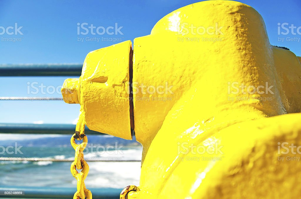 Hydrant On The California, Santa Monica Pier royalty-free stock photo